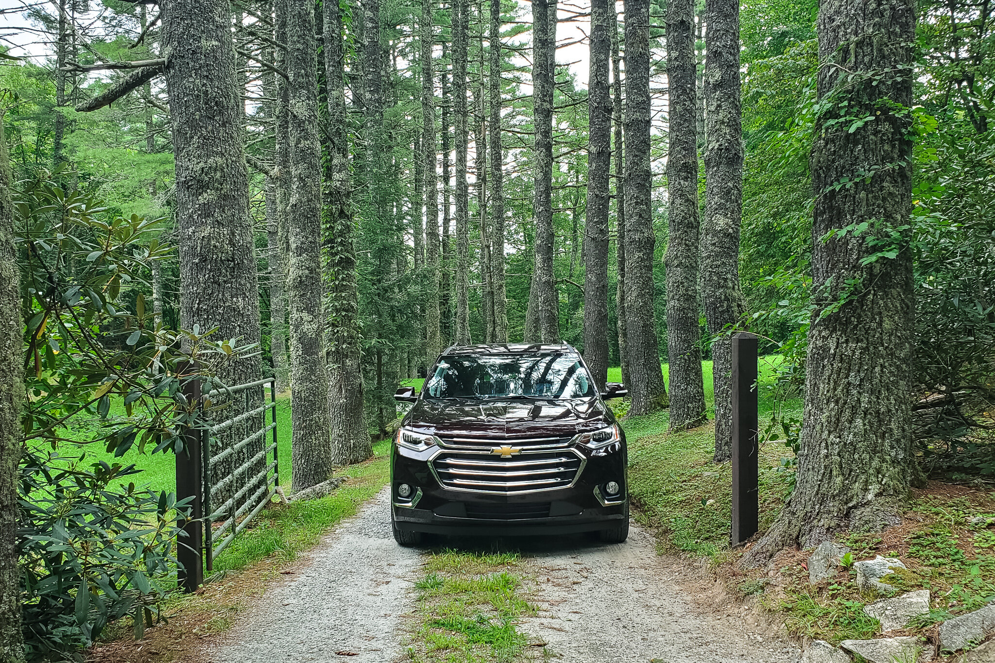 2019 Chevy Traverse on a road trip to Cashiers and Highlands, North Carolina (c) Anna Lanfreschi