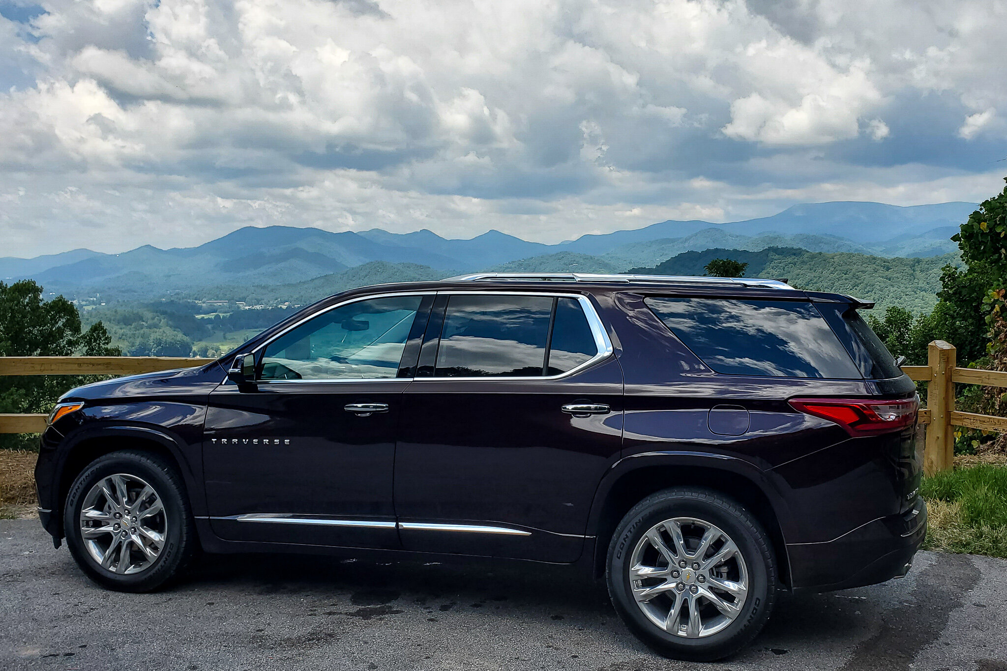 The Chevy Traverse is perfect for road trips! Pictured here in the mountains of Cashiers/Highlands, North Carolina (c) Anna Lanfreschi