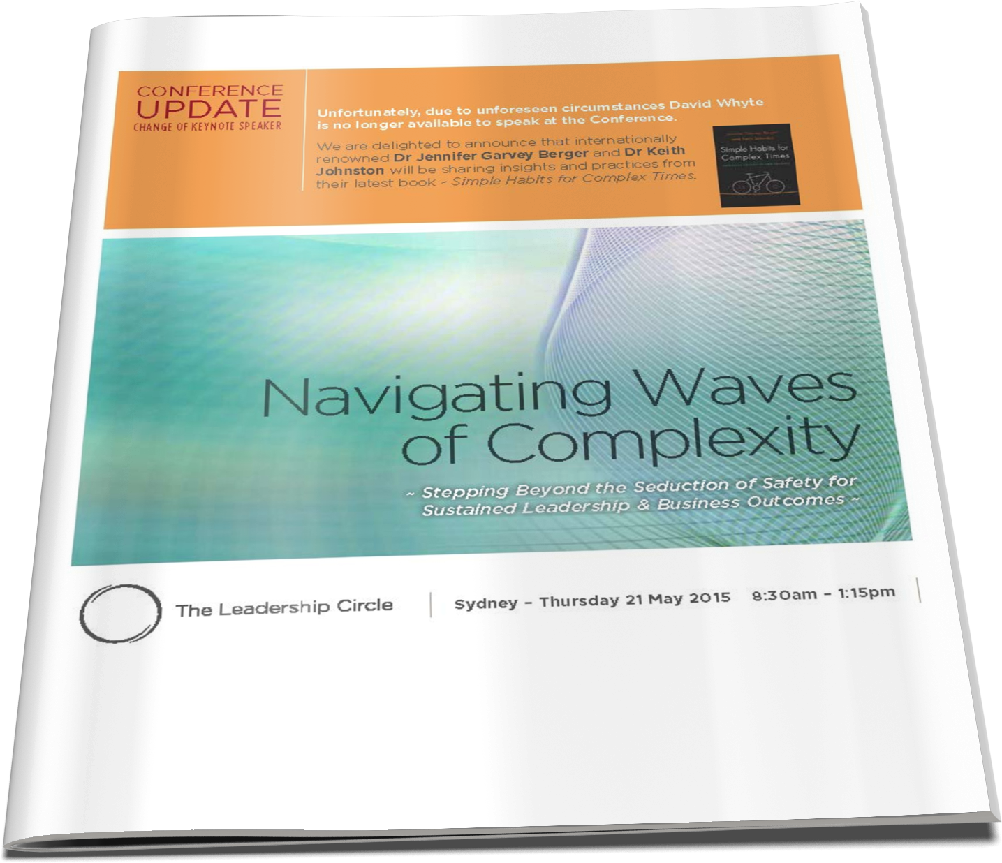 21 May, 2015 - Navigating Waves of Complexity: Accelerating Practical Pathways into Leadership Effectiveness and Organisational Performance