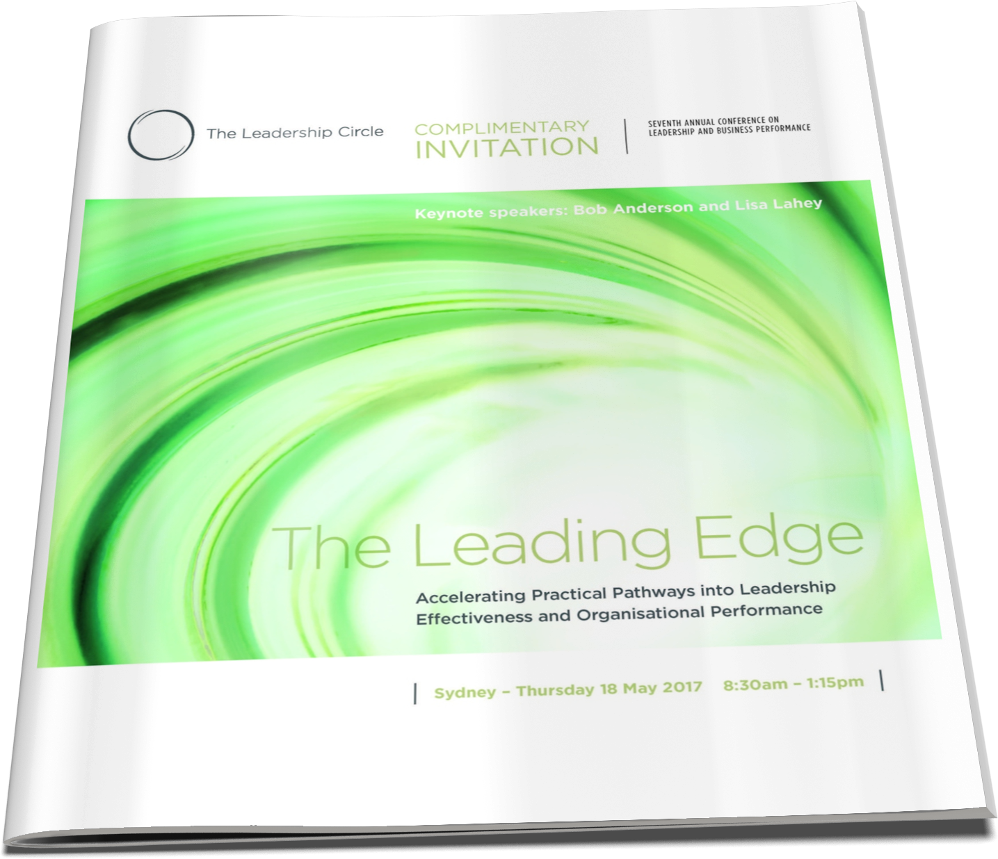 18 May, 2017 - The Leading Edge: Accelerating Practical Pathways into Leadership Effectiveness and Organisational Performance