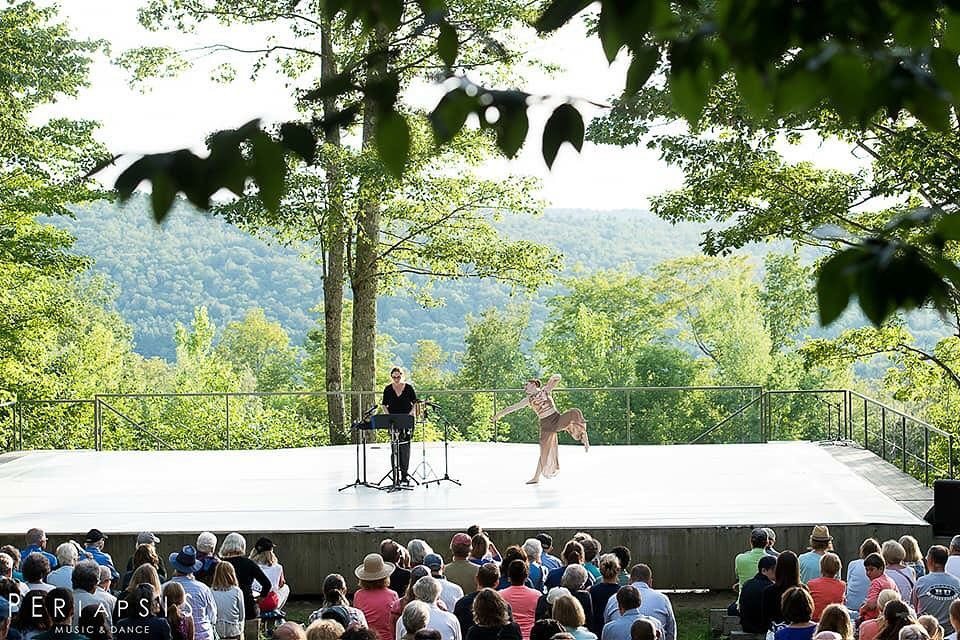 Periapsis Music & Dance at Jacob's Pillow Inside/Out Series, with dancer, Erin Dillon.