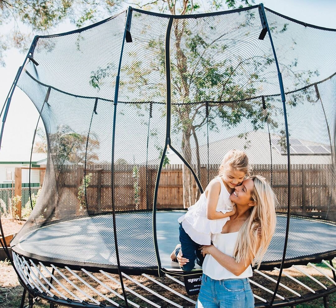 @rosie_luik   Family, today's little moments become tomorrow's precious memories 🍂 The world's safest trampoline,  @springfreetrampoline_au  has just released two new awesome trampolines perfect for beginner bouncers and small backyards. If you're tight on space, check them out. With prices starting from $899, and a 10-Year warranty that's real peace of mind ☀️💫💞🍂🌷