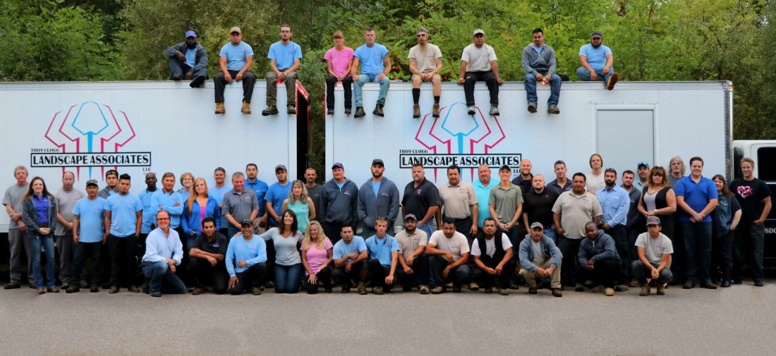 Team of lansdcapers and masonry contractors in SE Michigan