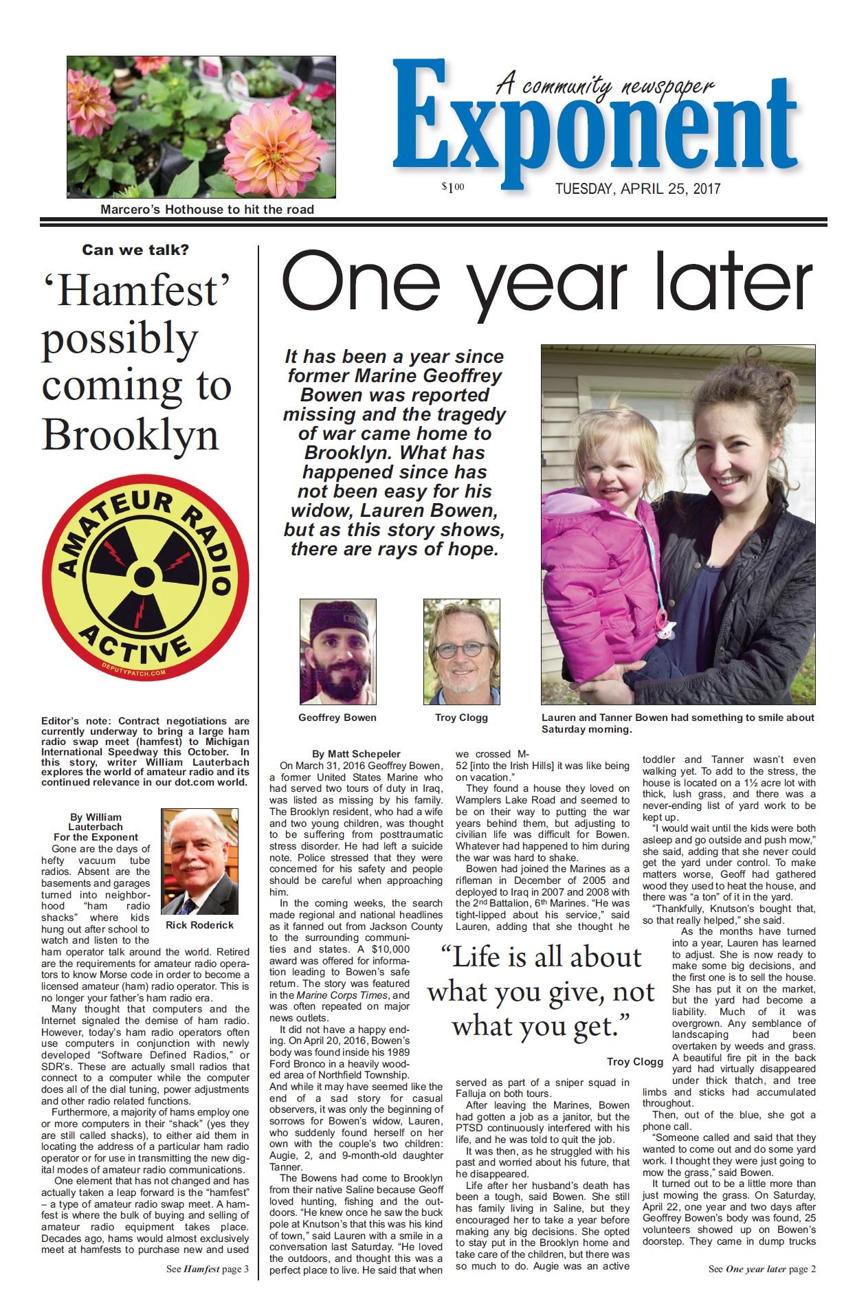 Landscape contractors SE Michigan - community newspaper article