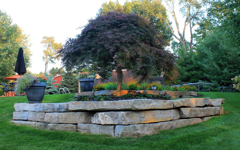 Boulders for stunning landscape design in Bloomfield Township MI