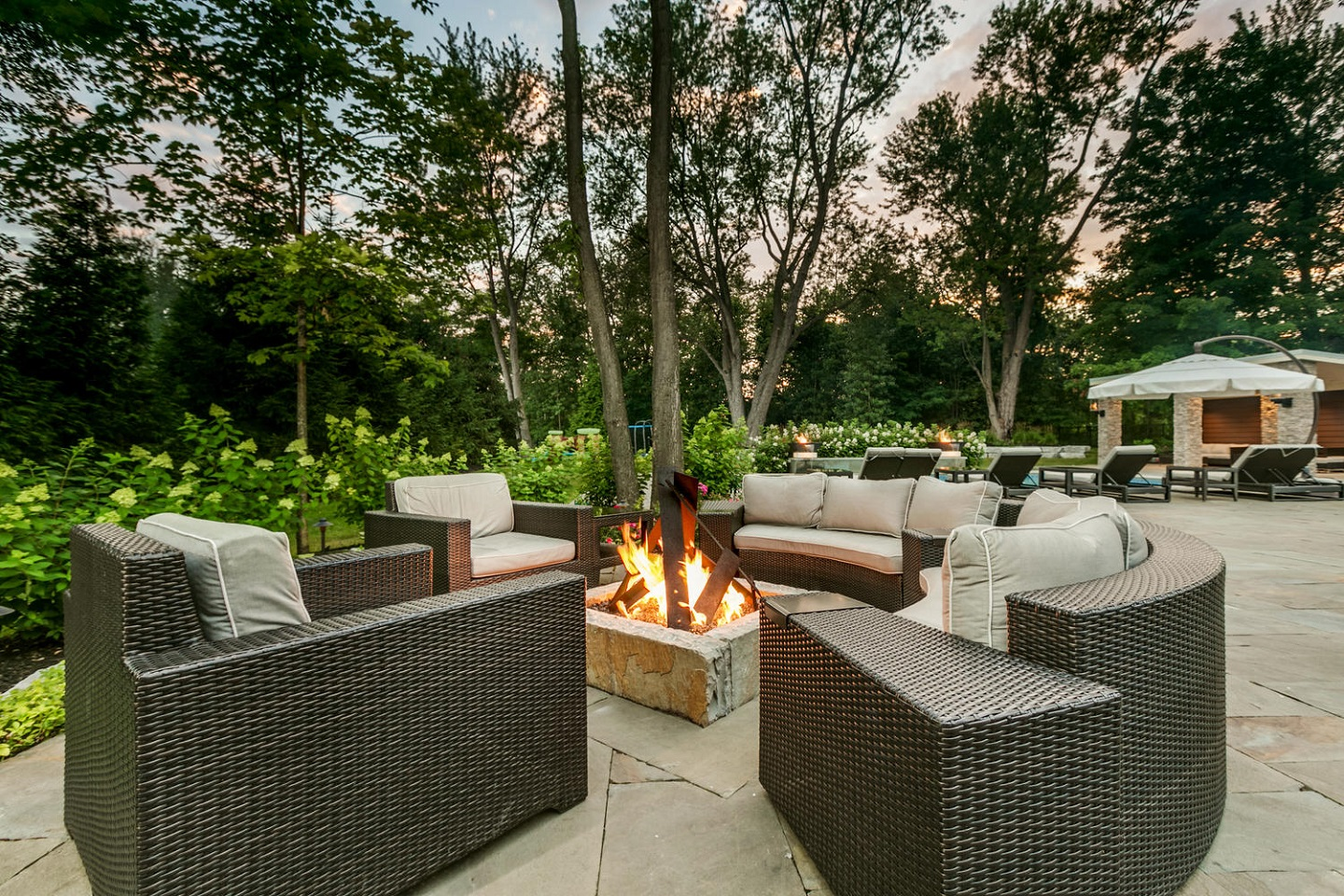 Outdoor fireplace in Brighton MI