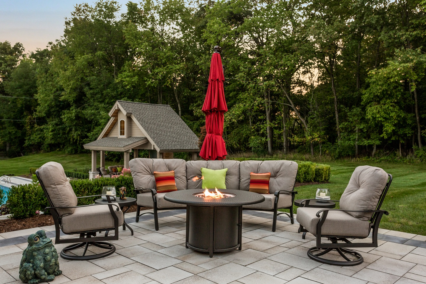 Top outdoor fireplace in SE Michigan