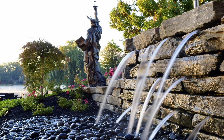 Landscape design in Ann Arbor MI with water features