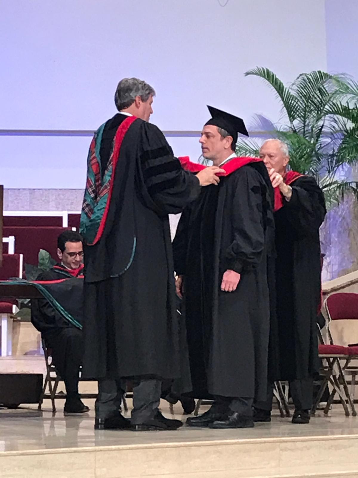 Jonathan Schuster - Jonathan Schuster who lectures in Old Testament graduated with a DMin from Knox Theological Seminary, Fort Lauderdale, Florida. Congratulations to Jonathan!