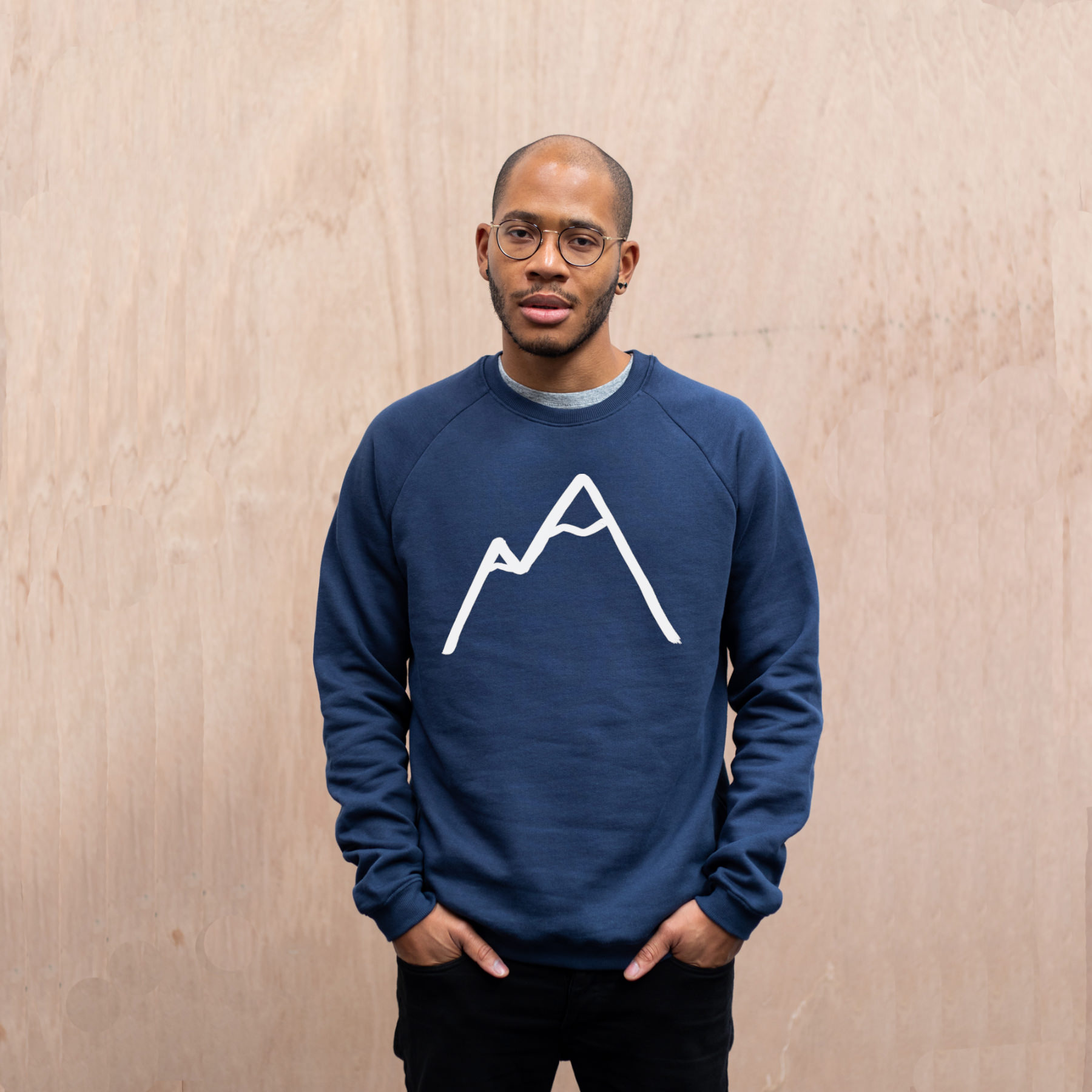 Simple Mountain Navy organic sweater mens front.jpg