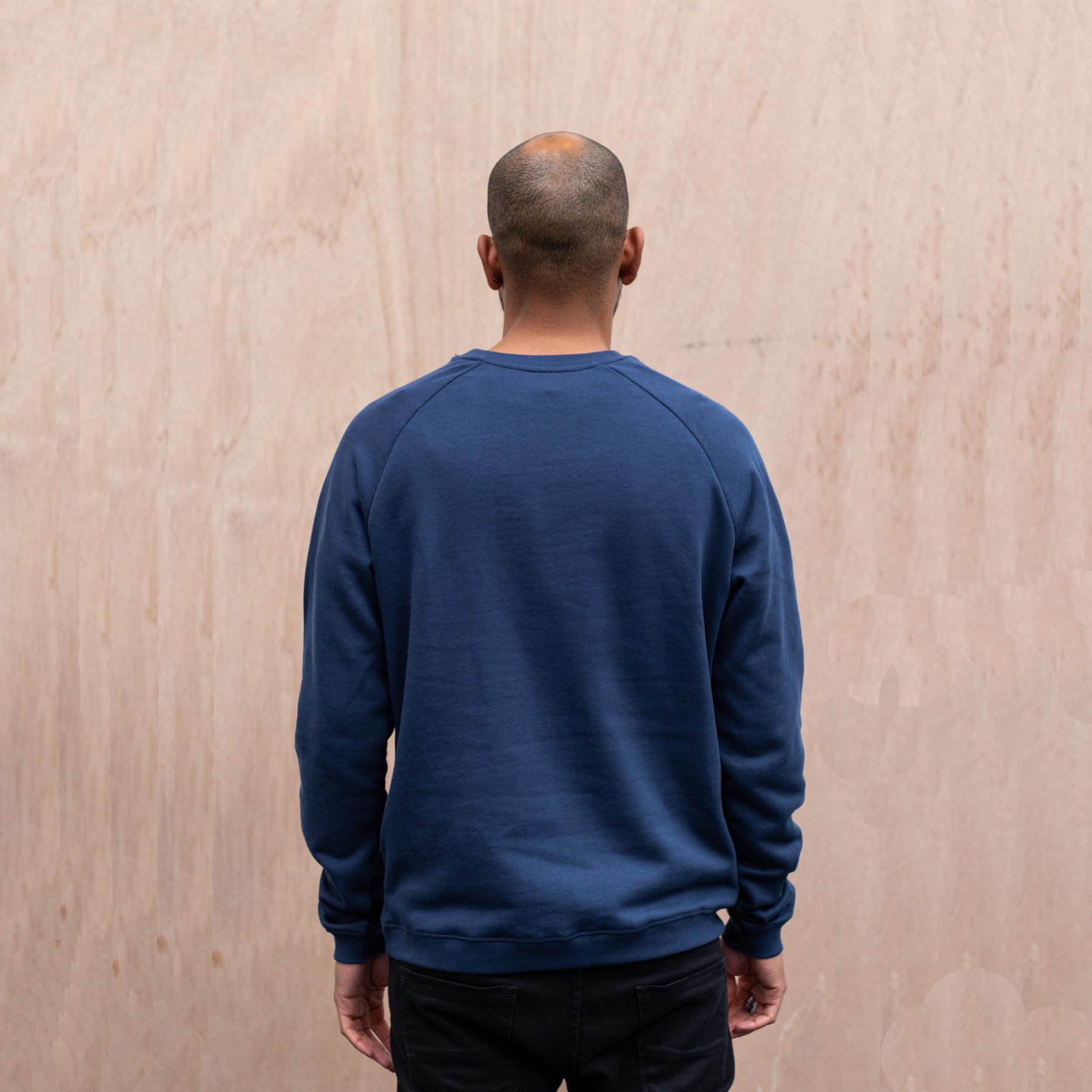 Simple Mountain organic sweater navy manes back.jpg