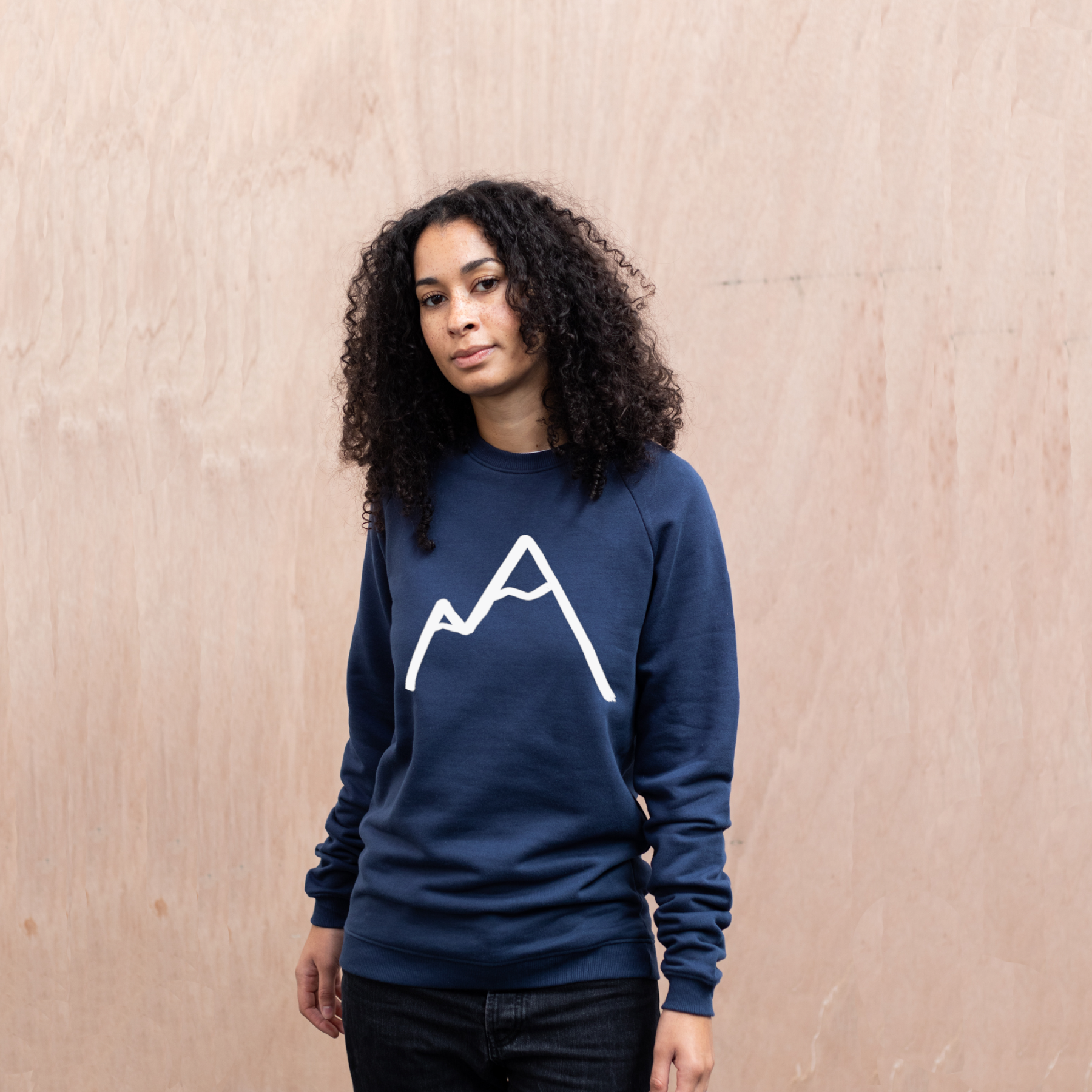 Simple Mountain organic navy sweater womens front.jpg