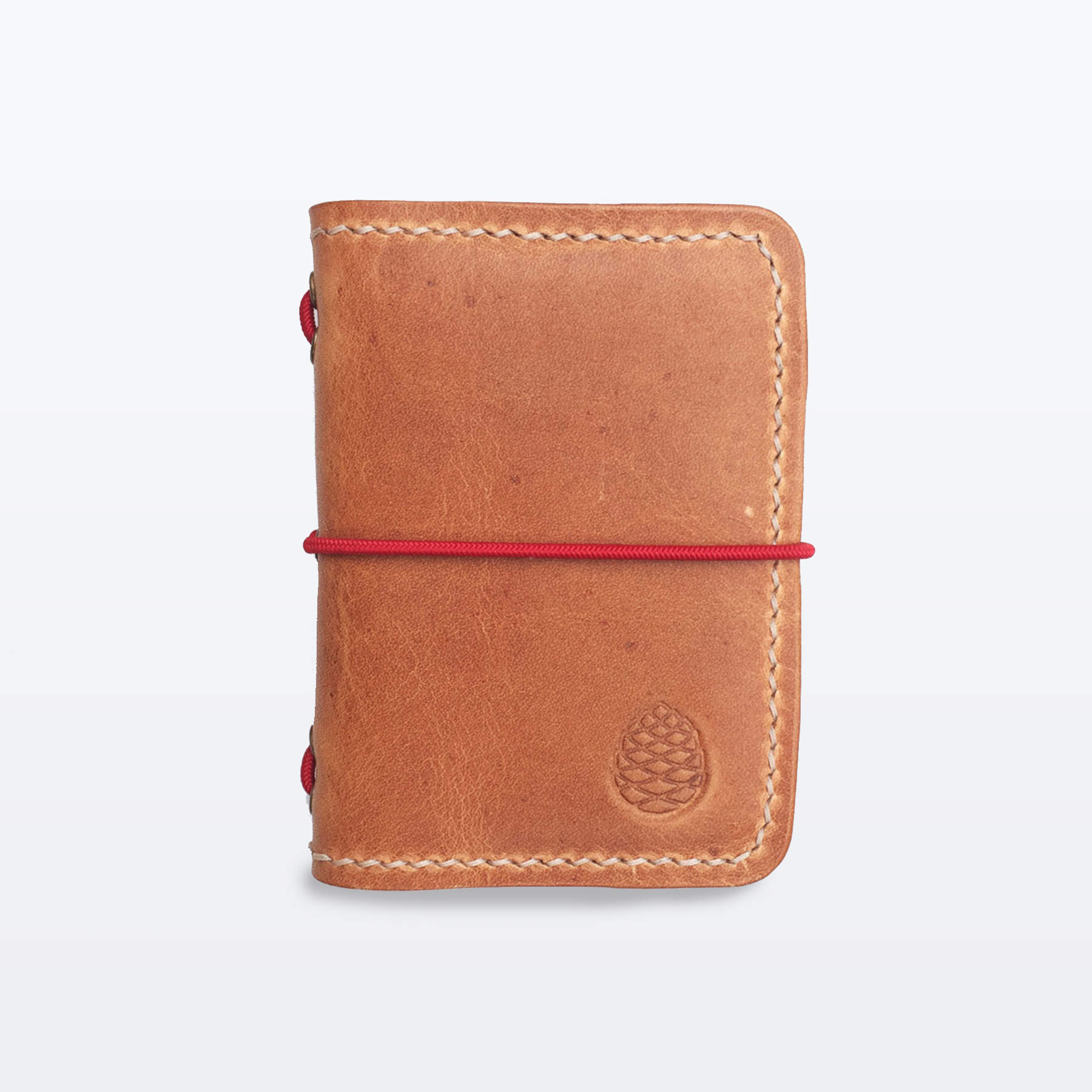 Tan Leather card holder wallet The Level Collective x flat leather.jpg