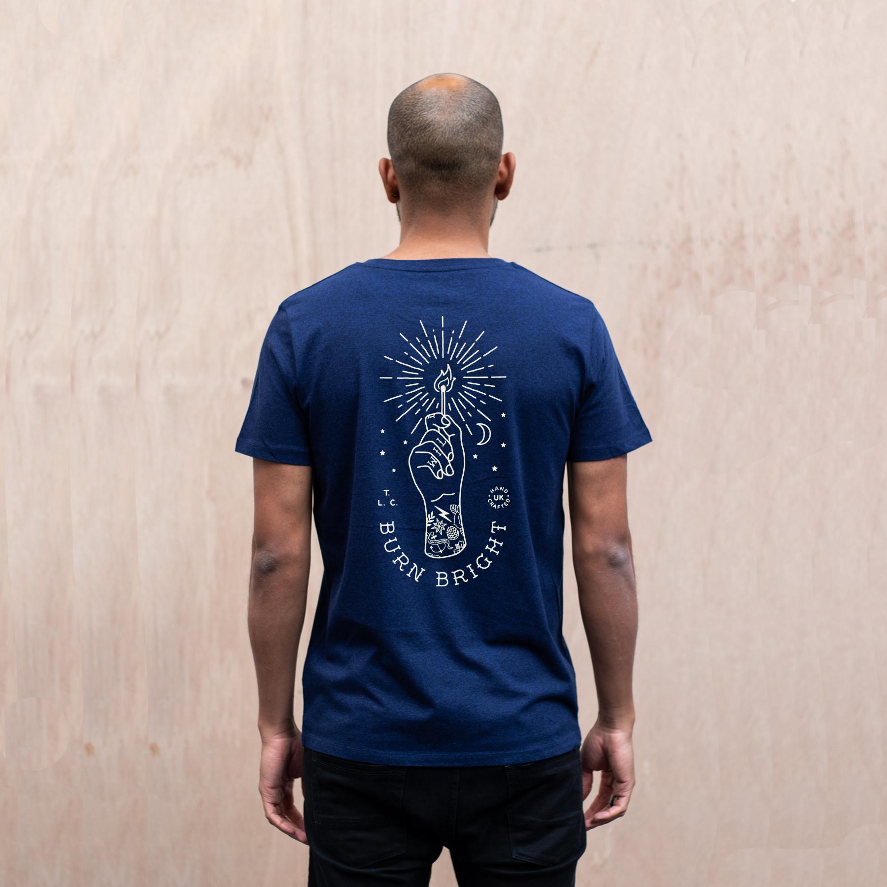 Burn-Bright-organic-t-shirt-mens-back-The-level-Collective.jpg