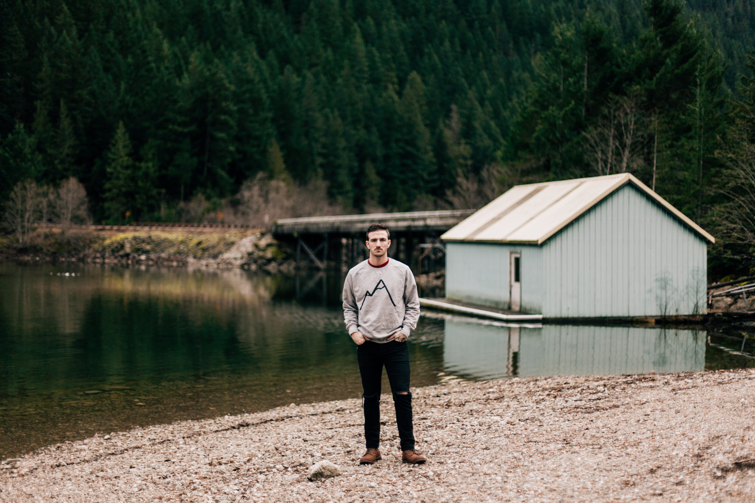 Simple Mountain grey sweater boathouse.JPG