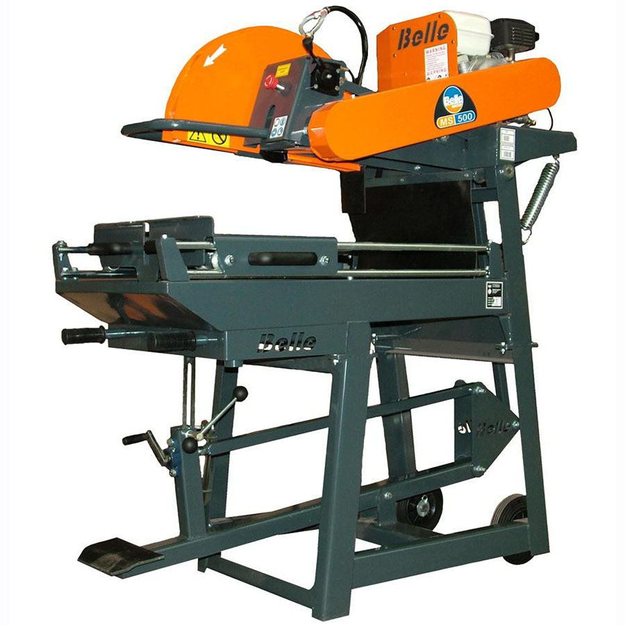 Belle MS500 500mm Masonry Bench Saw - For Hire - 195mm Depth - Honda GX160 Petrol Engine