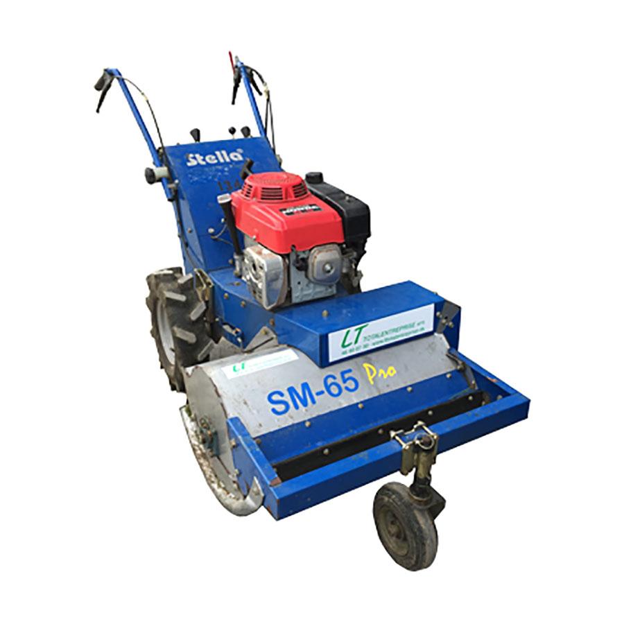 Stella SM65 Pro 650mm Rough Cut Lawn Flail Mower - For Hire - Honda GXV270 Petrol Engine