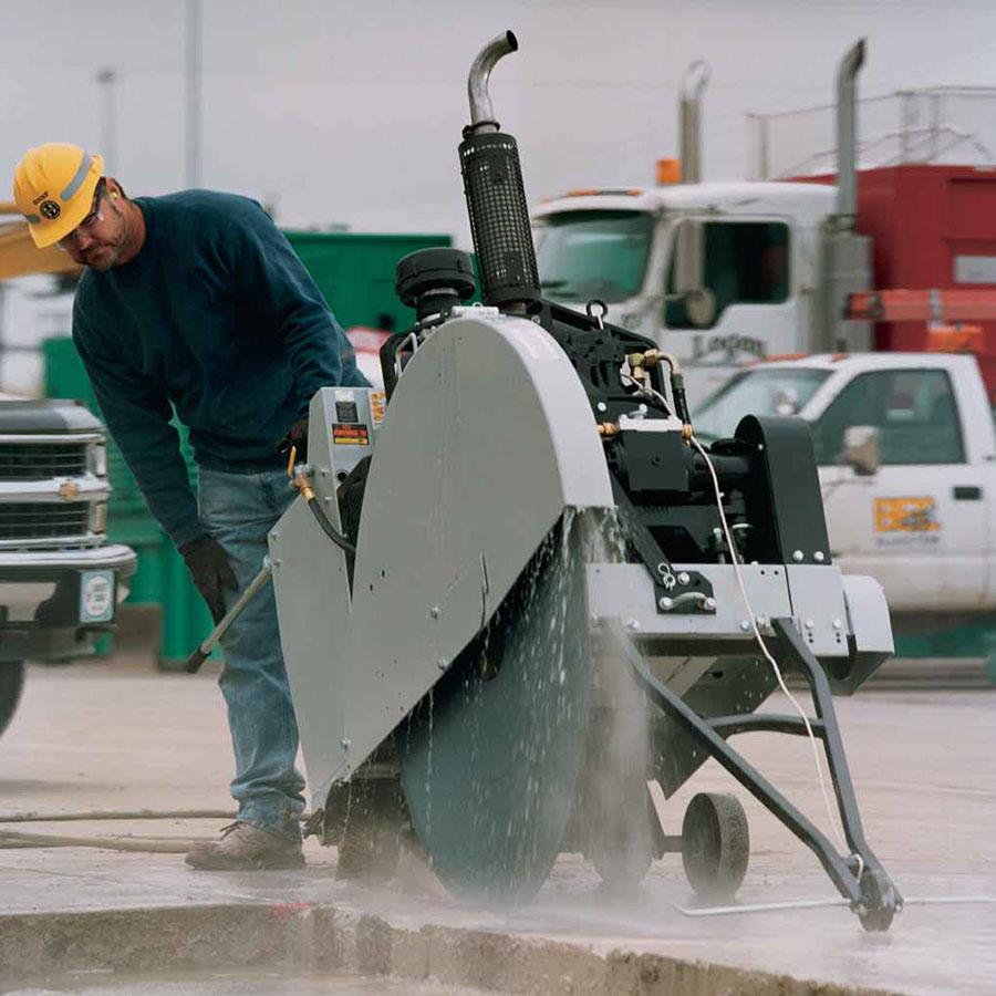 Diamant Boart 900mm Concrete Road Saw - For Hire - 365mm Depth - Deutz 64hp Diesel Engine.