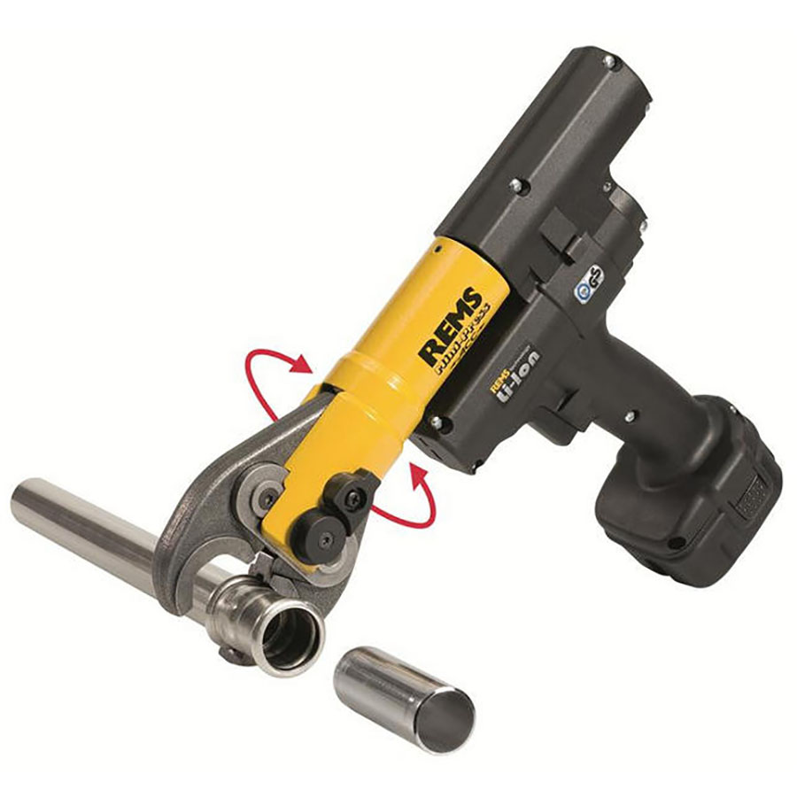 Rems Akku Press Handheld Crimper - For Hire - For 12mm To 28mm Pipe - Electric 12V Battery