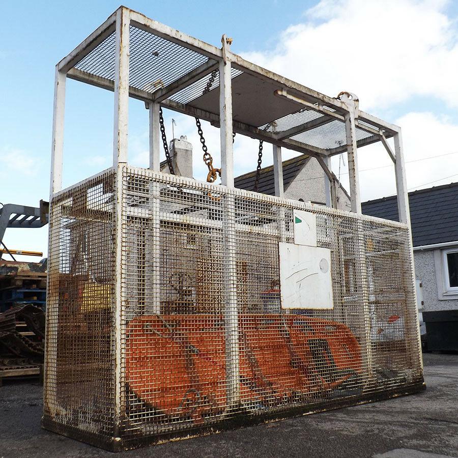 Safe Evacuation Cage Crane Attachment - Used - Conquip CA121 2 Man Stretcher Cage Emergency Evacuation Safety Crane Attachment.2 Man Capacity (1 In Stretcher, 1 Standing). Includes Stretcher.