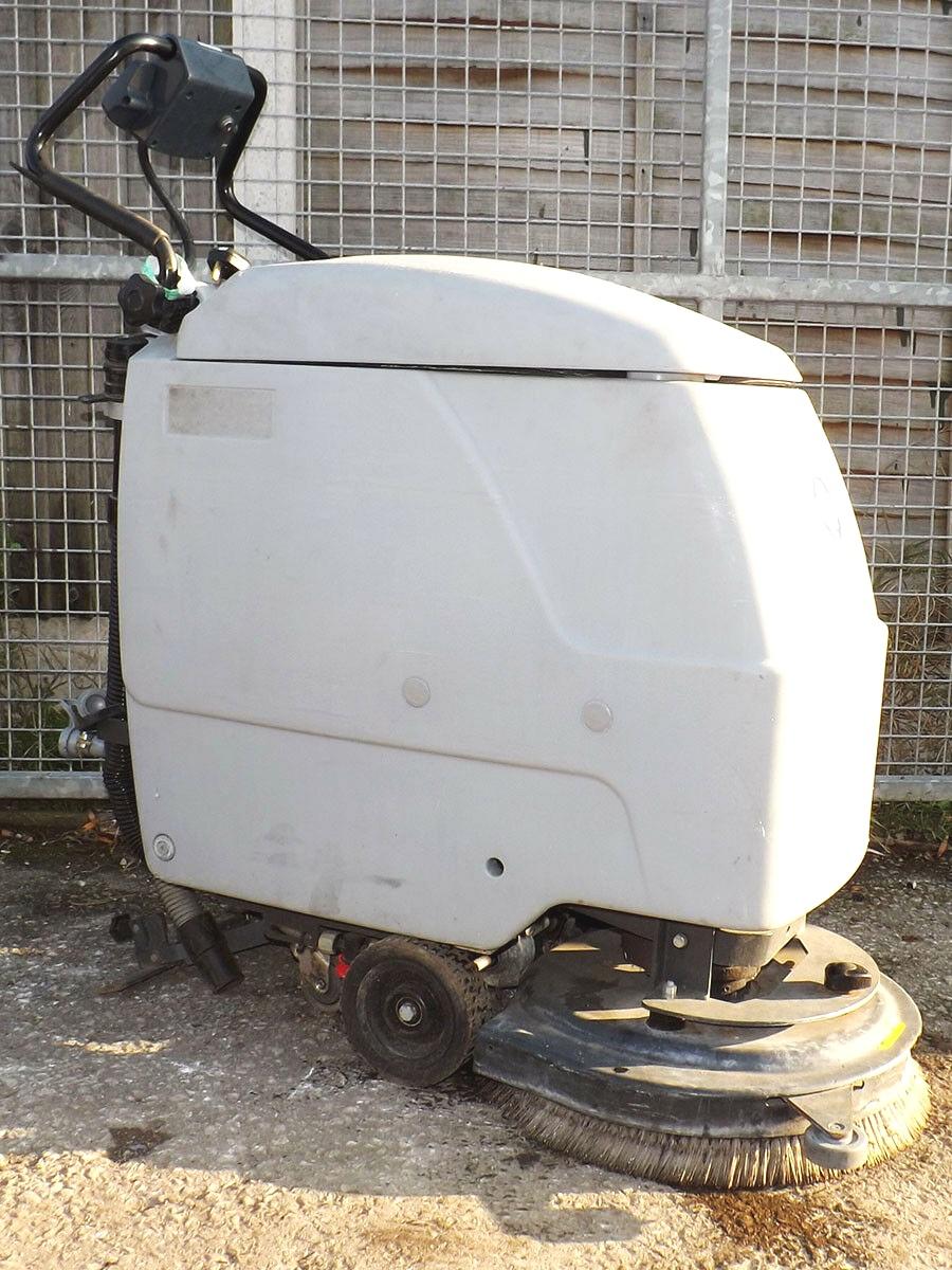 Nilfisk BA 510 SD Scrubber Dryer - Used - Walk Behind Floor Cleaner - 24V Battery PoweredNeeds Rear Squeegee Replacement
