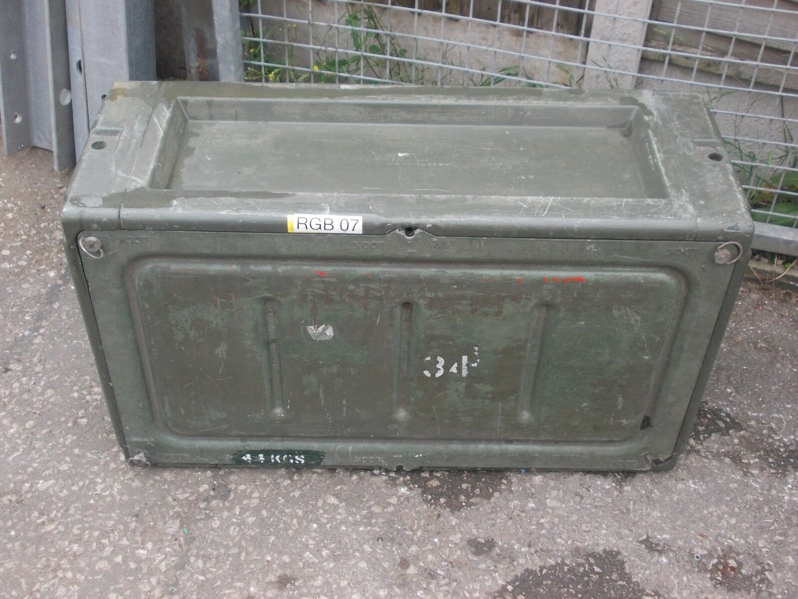 Large MilitaryStorage Container - Used - Army Green With Shelving