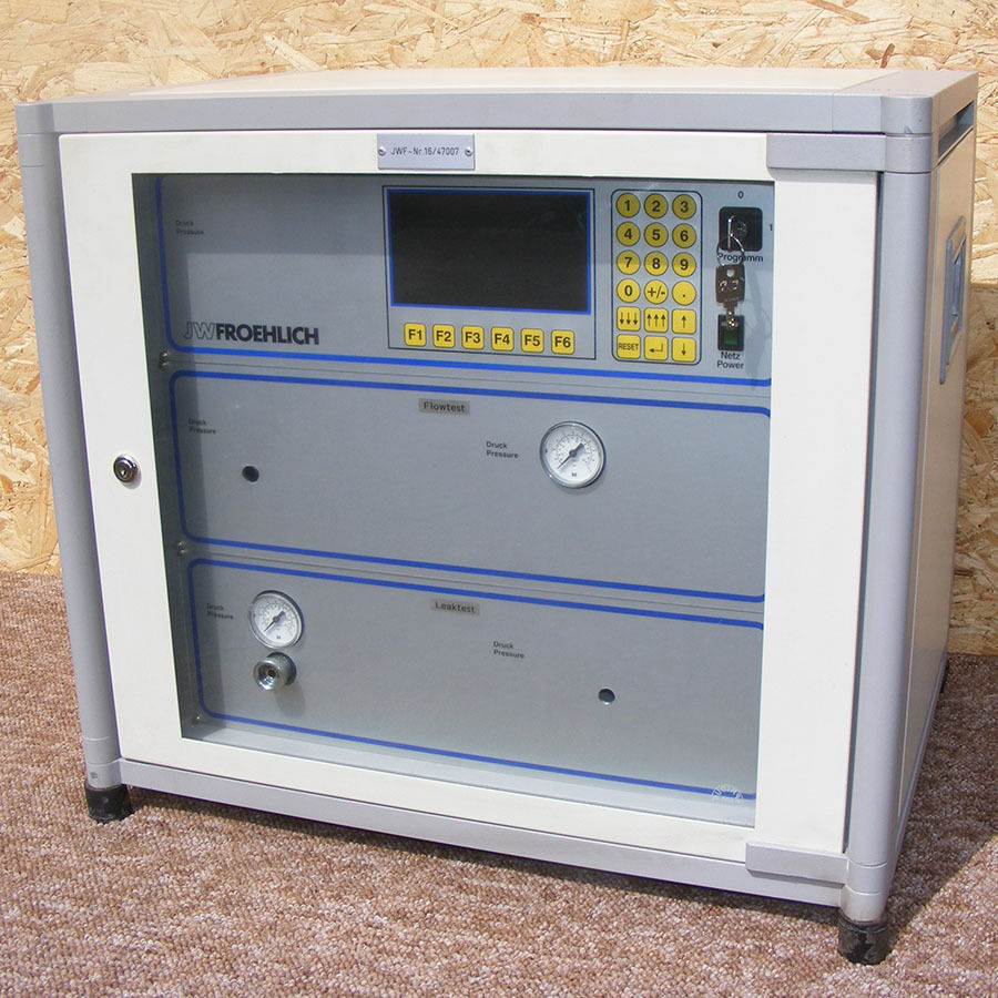 JW Froehlich MFL 60 Leak & Flow Test Panel - Unused - Automatic Dry Air Leak test Flow testComplete with manuals