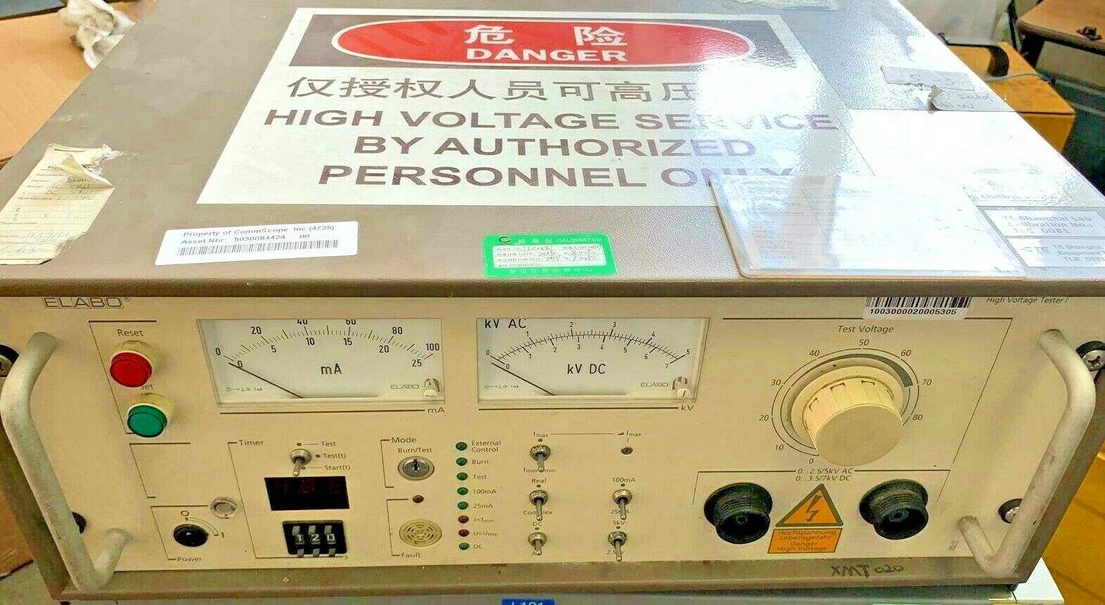 Elabo High Voltage Tester XMT020 - Used - Industrial Test Equipment 0~5kV AC, 0~7kV DC