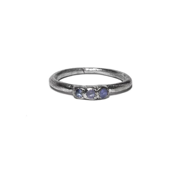 Lucent Pixie Tanzanite Ring✨ Available in size 6, 7 and 8 // MirandaFawn.com ⠀⠀⠀⠀⠀⠀⠀⠀⠀ #handcraftedjewelry #electroform #silverjewlery #silverplated #mirandafawn #jewelrydesign #corpuschristi  #artisan #rings #tanzanite #handmade