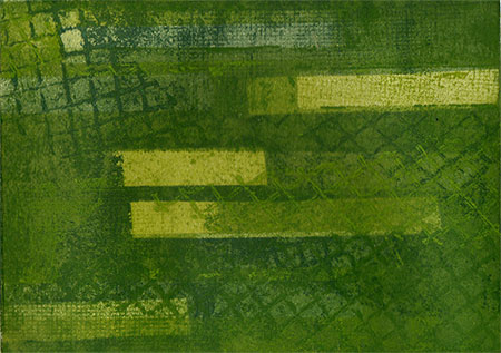 Trio (Green) (2007) - multiple plate color etching