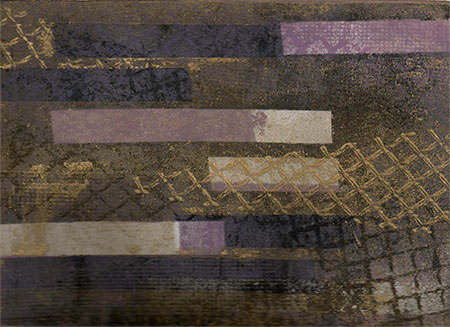 Trio (Violet and Gold) (2007) - multiple plate color etching