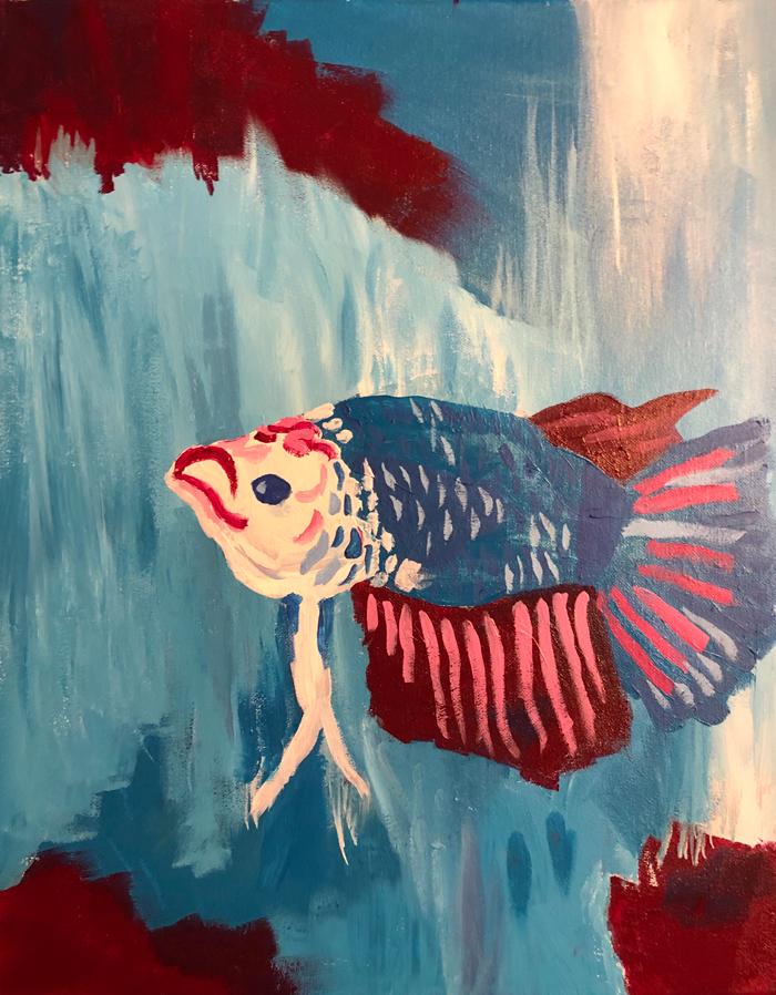 """Beta Fish (2019) - 20"""" x 16"""""""