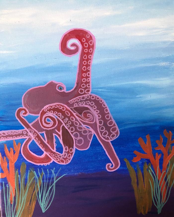"Octopus (2019) - 20"" x 16"""
