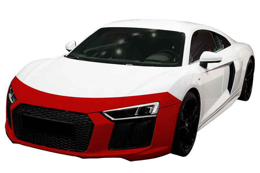 Standard- $699 - Covers the painted surfaces of the partial hood, partial fenders, and entire front bumper.