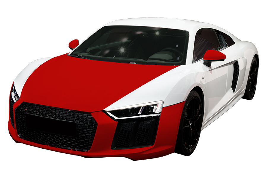 Premium - $1,099 - Covers the painted surfaces of the entire hood, entire front bumper, and backs of the painted side mirrors.