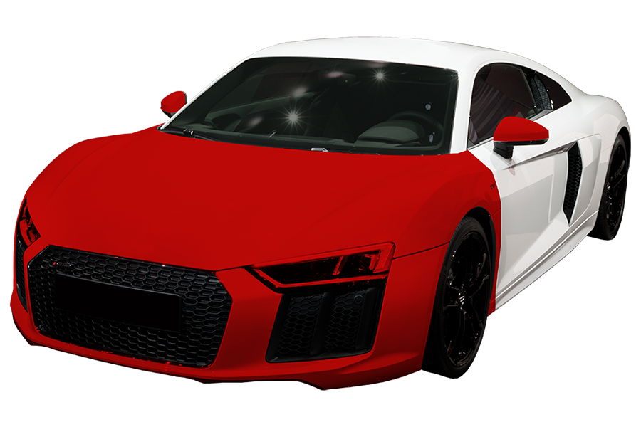 Performance- $2,299 - Covers the painted surfaces of the entire hood, entire fenders and front bumper, headlights, and backs of the painted side mirrors.