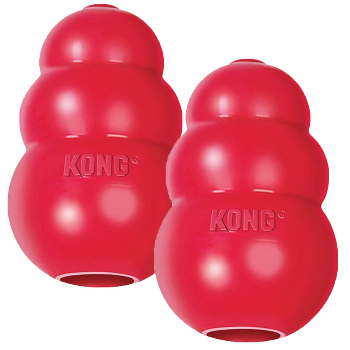 kong classic - There is a reason the classic Kong is sold in every pet store. The original puzzle toy, the Kong is a great option to give your pet their regular meals or a treat. Many of our clients fill a few with PB, yogurt, fruits and more, then throw them in the freezer to keep on hand. It's easy to toss one to your pup when you are on the way out the door to give them something to do when you leave.