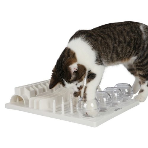 9. trixie pet activity board - The Trixie Pet Board is great for very motivated cats and small dogs. The best way to get your pet started with this is to put in some VERY high value food. Maybe throw kitty a little cat nip before too. 😉