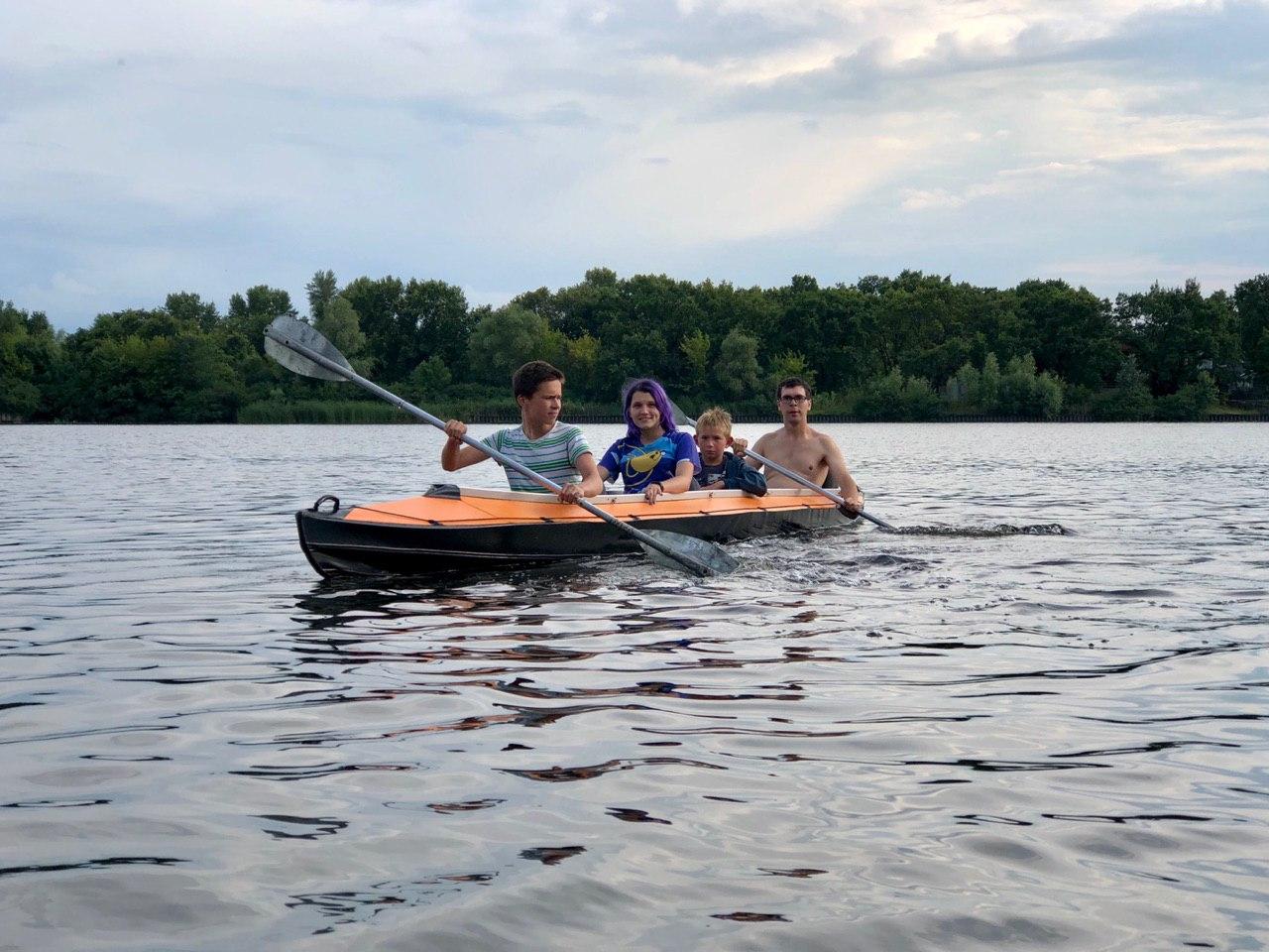 Kayaking trip around the bays of the Dnieper River around the island