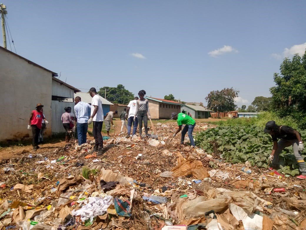 WASTE SEPARATION FROM THE DUMPING SITES.