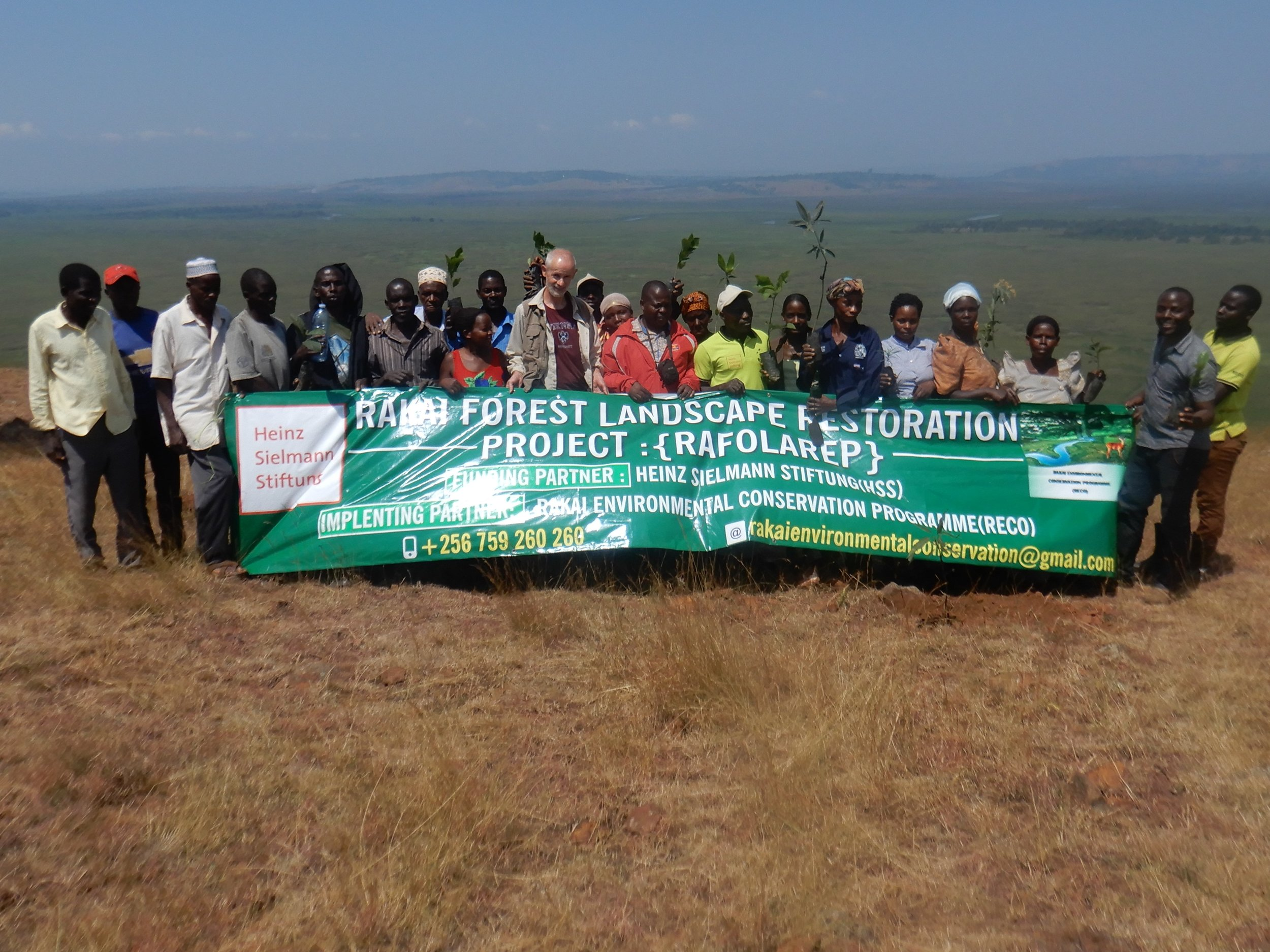 This is a group photo with our one of our local community groups I work with to restore the degraded lands.