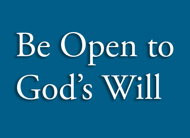 The Herald,  January 2019  Being Open to God's Will