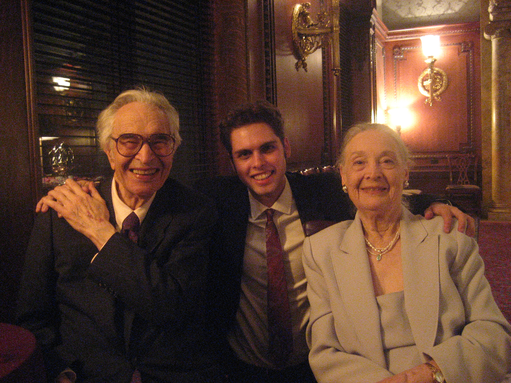 Ben with Dave and Iola Brubeck, 2007