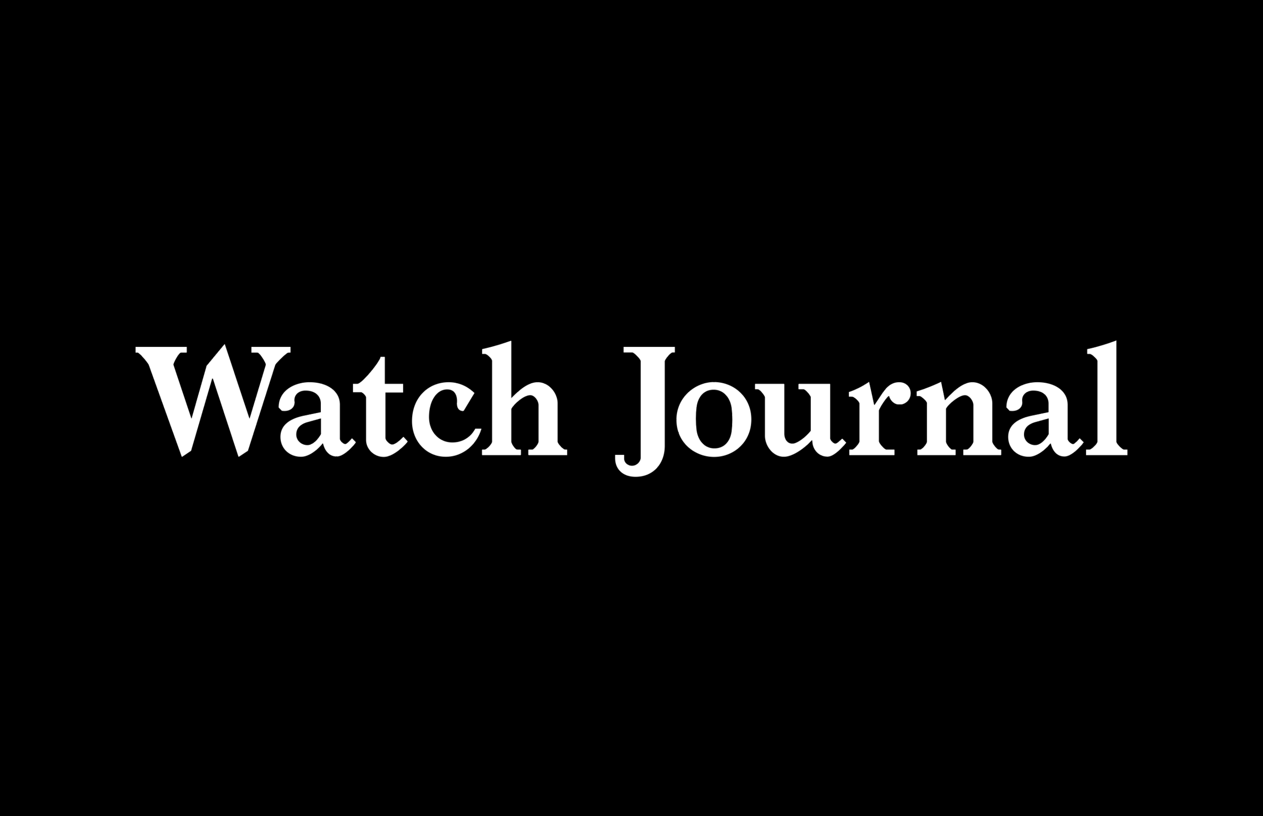 WATCH JOURNAL MAGAZINE - Pairing a love of fine watches and an appreciation for the best in style, travel, and sports, Watch Journal is the category-leading luxury timepiece publication.