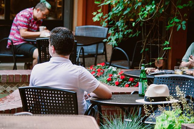 """Relaxing. Picturesque. Hidden gem."" These are just some of the words that our guests use to describe the fountain courtyard 🌷 Where's your favorite spot at the @5thstreetpublicmarket?"