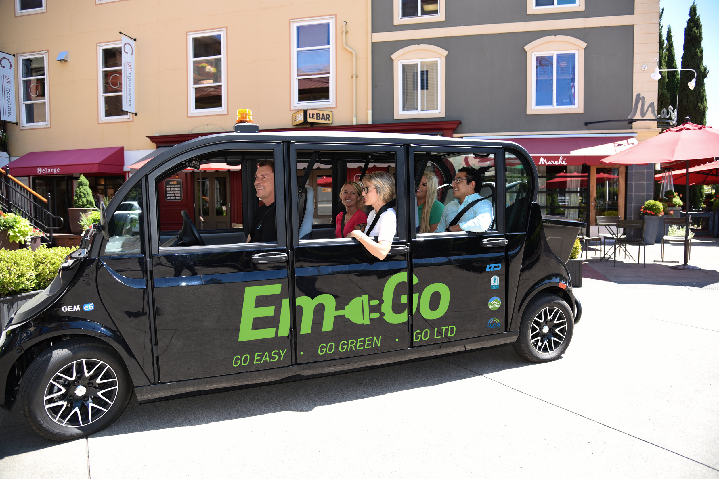 Hop on the electric EmGo shuttle for FEST rides! - The new EmGo shuttle will be transporting fest guests to and from the surrounding lots to Market Fest! Hop on when you see one and when you are ready to leave, you can catch the shuttle in front of Marché. EmGo will be available Friday, August 23rd between 5:00-9:00pm and Saturday, August 24th between 5:00 - 9:00pm.