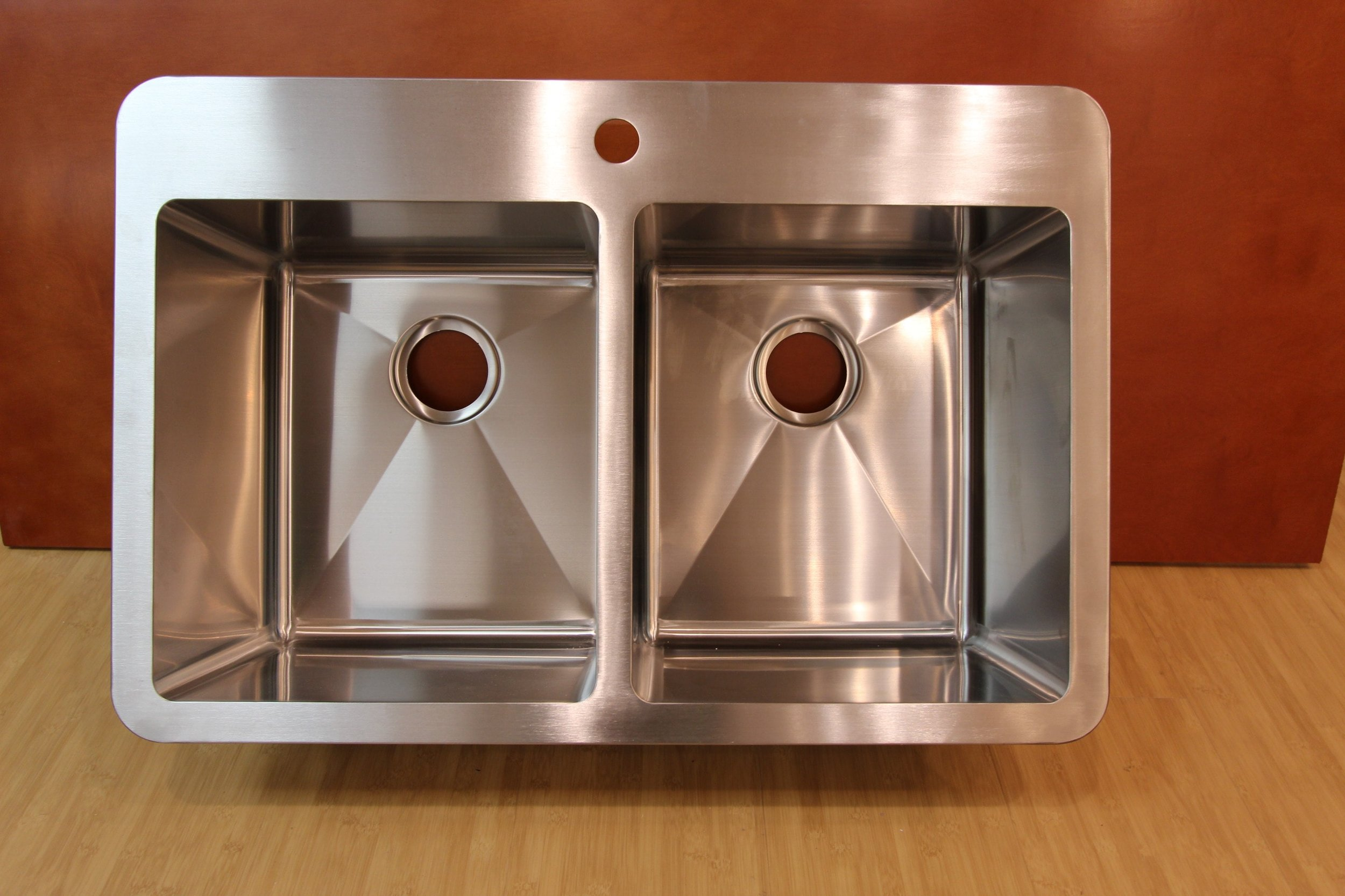 Top Mount Straight Edge Double Sink