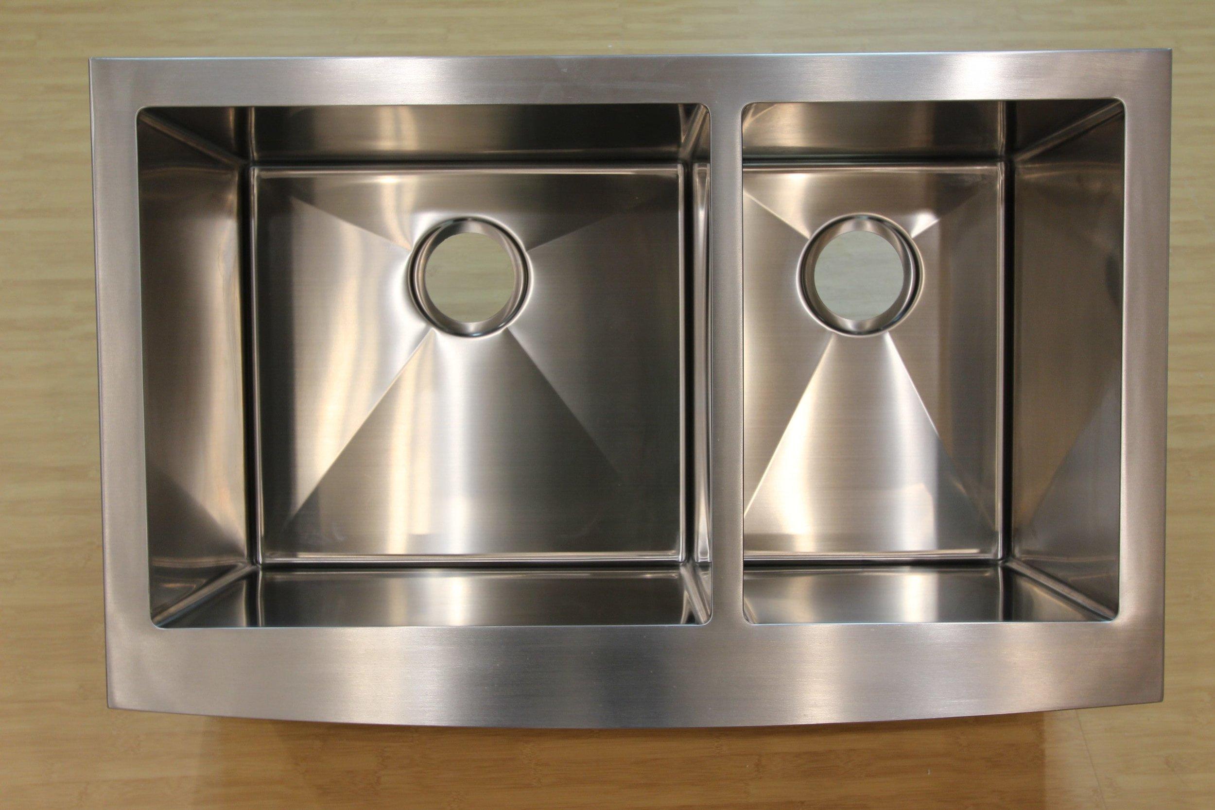 Stainless Steel Kitchen Double Farm Sink.JPG