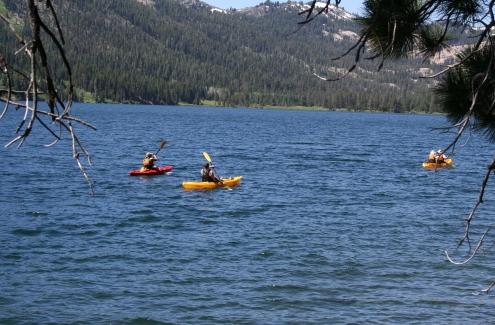 Kayaking on Independence Lake