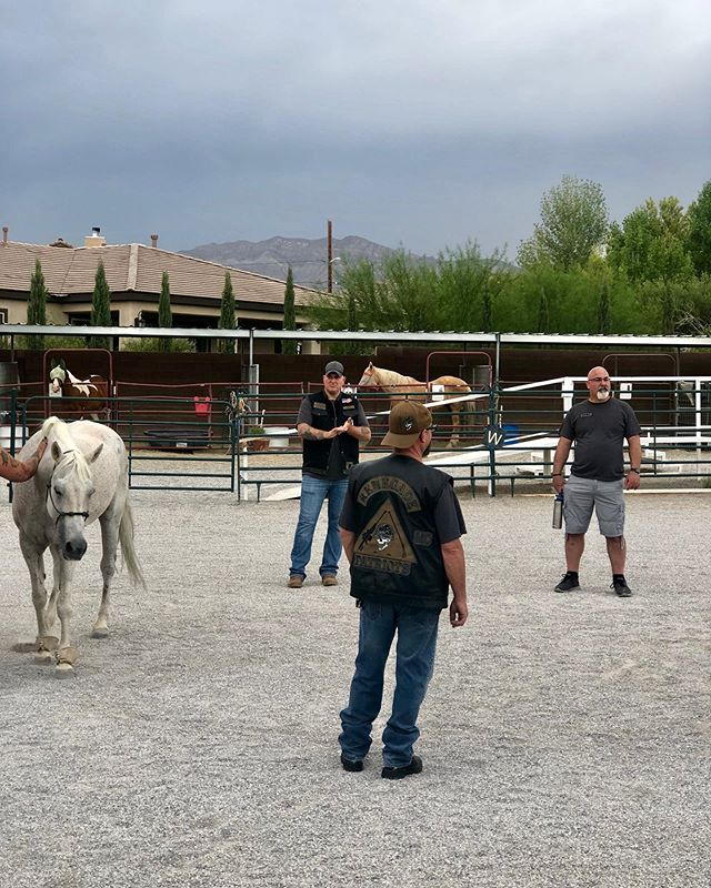 We welcomed the Renegade Patriots MC to SPIRIT last night for a tour our facility and to experience an EAL (equine-assisted learning) session. Each session, we all learn something new about ourselves and our horses. Thank you for joining us!! 💙 Do you have a company, club, or organization that would like to experience the benefits of these session? For more info, Please fill out an inquiry form on our website! 💙 - - - - #weareeagala #equineassistedtherapy #equineassistedpsychotherapy #therapists #psychology #therapistlife #equinetherapy #mentalhealth #mentalhealthawareness #mentalhealthmatters #femalefounded #endthestigma #selfcare #selflove #mentalillness #recovery #mindfulness #motivation #wellness #ptsd #hippotherapy #meditation #horsesheal #veterans #volunteer #lasvegas #WomenInBusiness #pathintl
